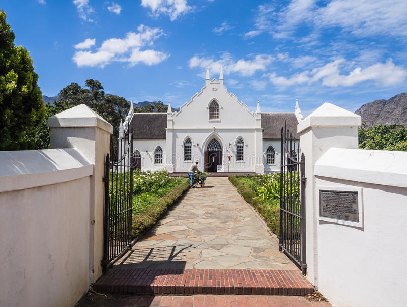 Dutch Reformed Church in Franschhoek stock photography