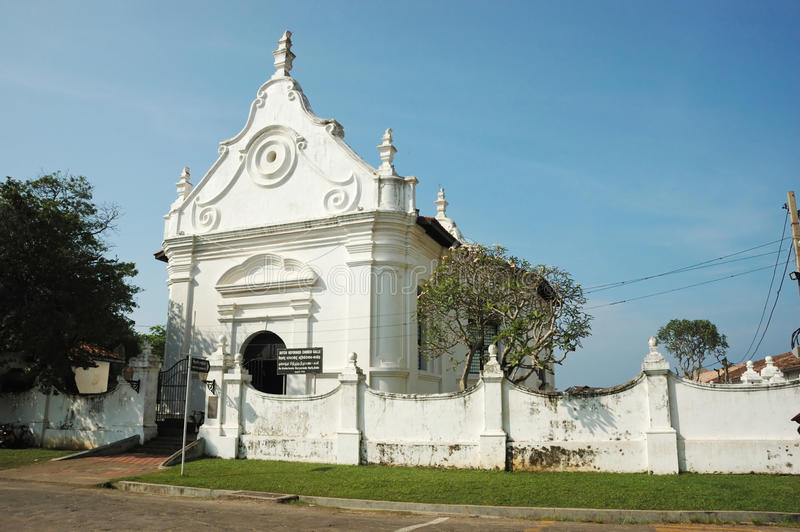 Dutch reformed church in Galle,Ceylon stock images