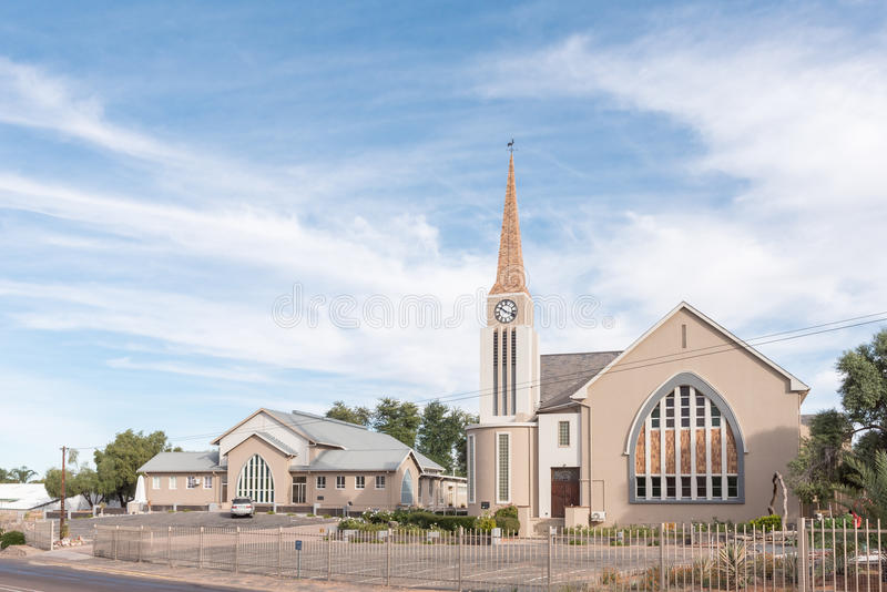Dutch Reformed Church and hall in Keimoes. KEIMOES, SOUTH AFRICA - JUNE 12, 2017: The Dutch Reformed Church and hall in Keimoes in the Northern Cape Province royalty free stock image