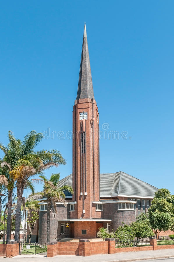 Dutch Reformed Church Humansdorp. HUMANSDORP, SOUTH AFRICA - FEBRUARY 28, 2016: The Dutch Reformed Church Humansdorp, built in the Byzantine architectural style stock image