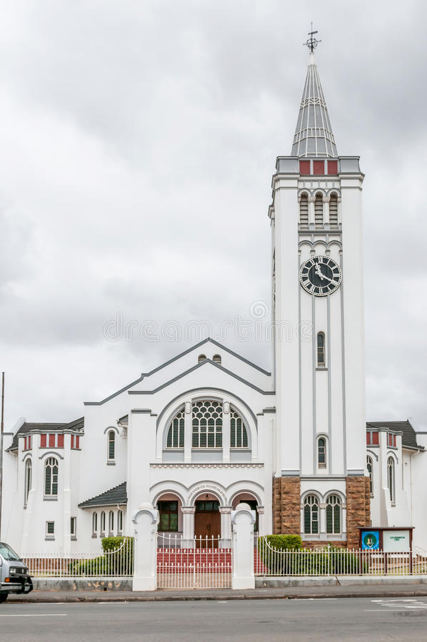 Dutch Reformed Church, Riversdale. RIVERSDALE, SOUTH AFRICA - DECEMBER 26, 2014: The Dutch Reformed Church, Riversdale in the Western Cape Province of South royalty free stock photos