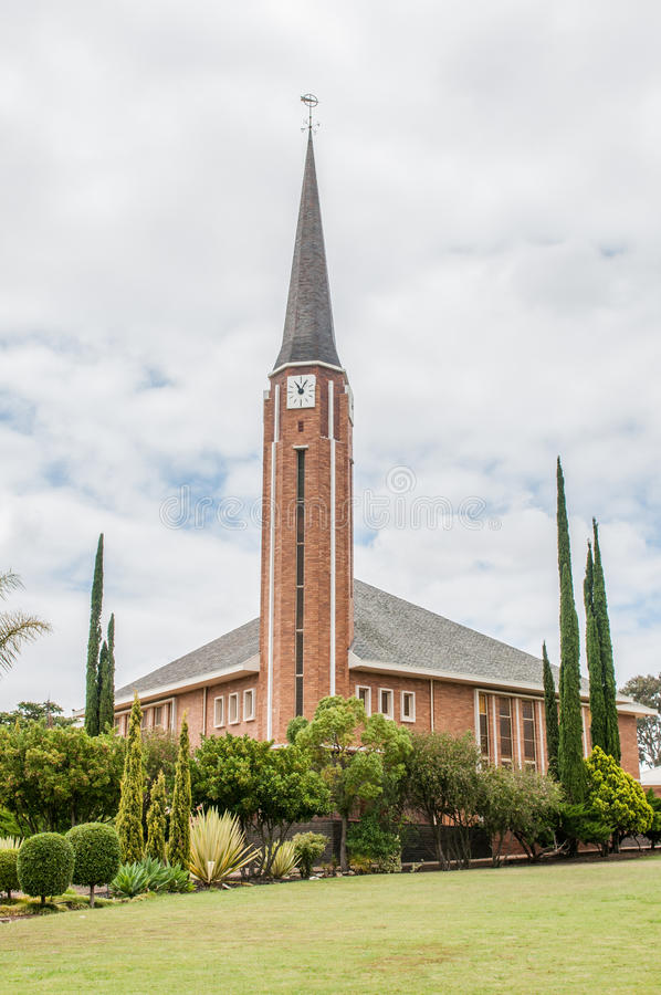 Dutch Reformed Church, Riversdale West. In the Western Cape Province of South Africa stock photo