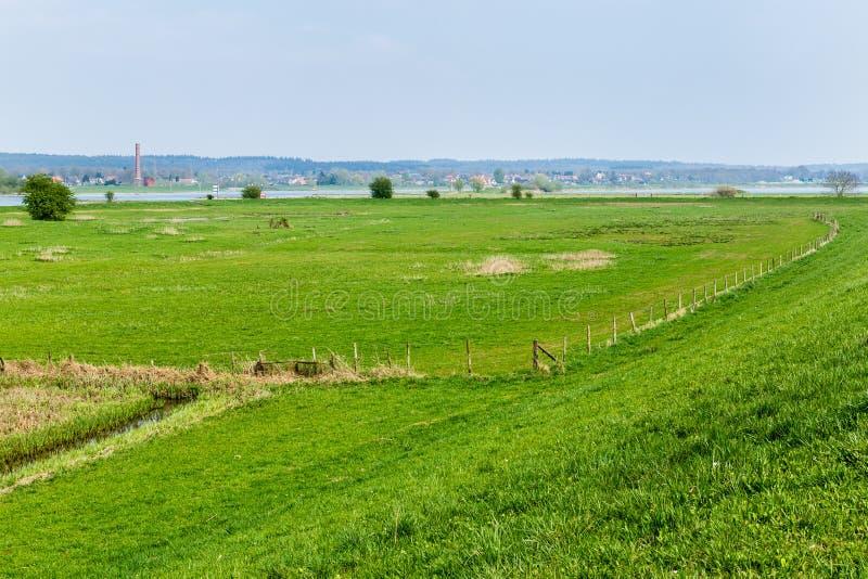 Dutch river landscape near Wageningen royalty free stock photos