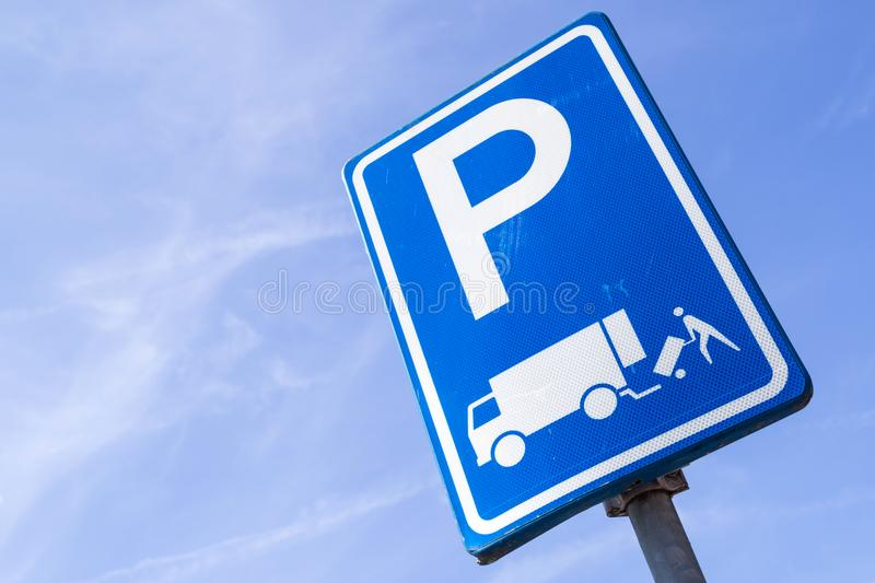 Parking for loading and unloading royalty free stock photos