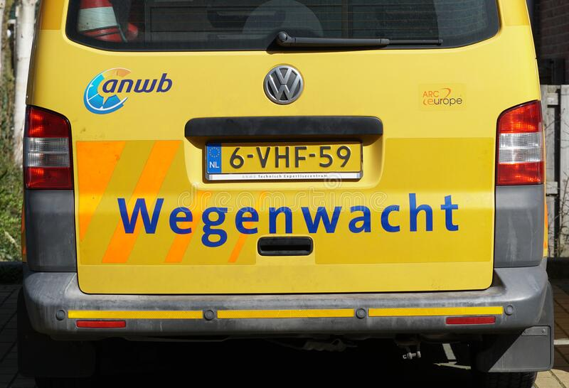 Dutch roadside assistance. Pijnacker, the Netherlands. March 2020. Dutch roadside assistance vehicle wegenwacht. Translation: Roadside Assistance stock photos