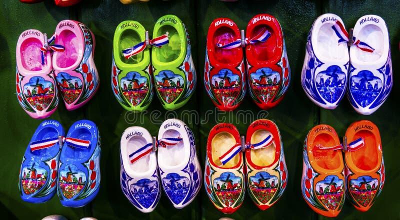 Dutch Shoe Souvenirs Flower Market Amsterdam Holland Netherlands stock photos