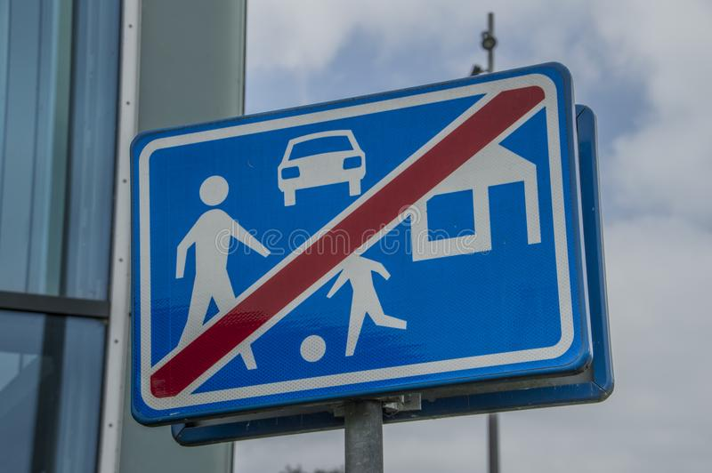 Dutch Sign No Traffic Allowed At Duivendrecht The Netherlands 2018 royalty free stock photography