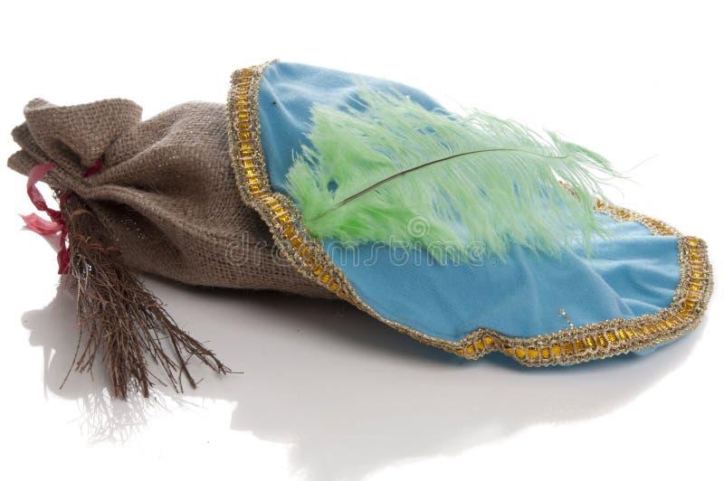 Dutch Sinterklaas Pieten hat with roe