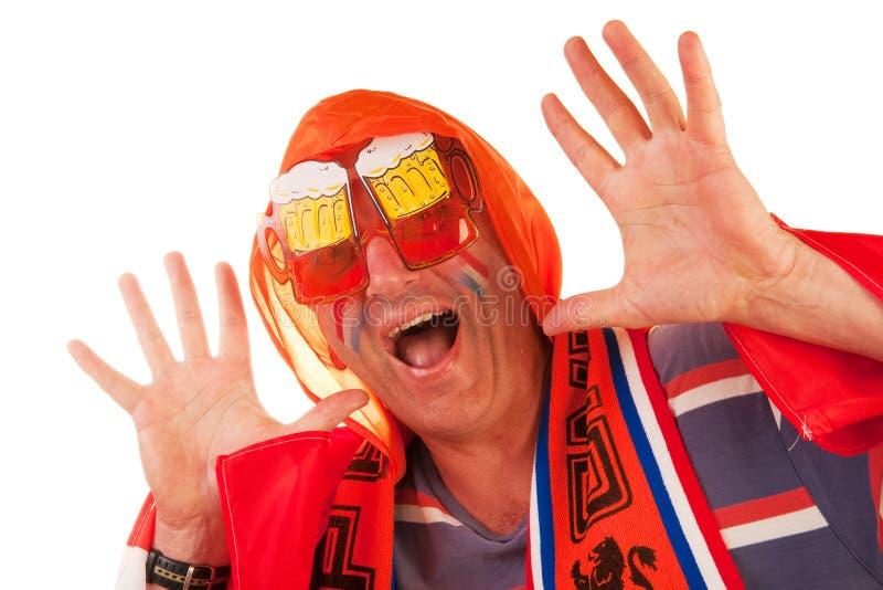 Download Dutch soccer fan stock image. Image of attibutes, world - 14065989