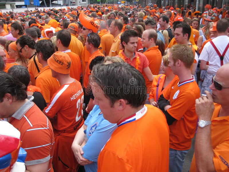 Download Dutch Soccer Fans editorial photography. Image of holland - 14965847