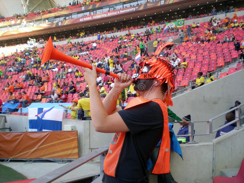 Dutch soccer world cup fan royalty free stock image