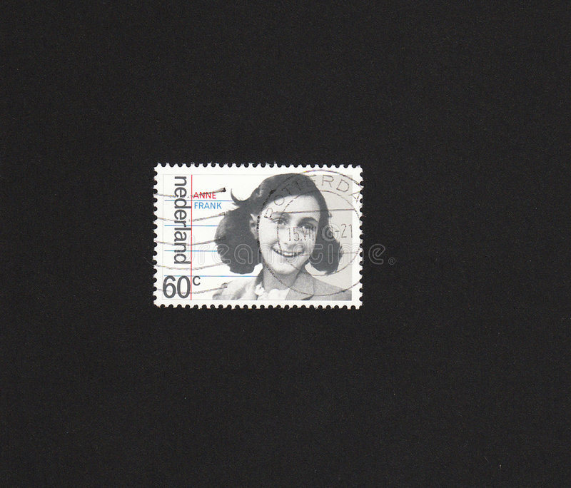 Dutch Stamp With Image Of Anne Frank. Stock Photo
