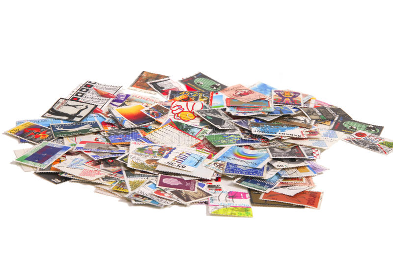 Dutch stamps on a bunch stock photos