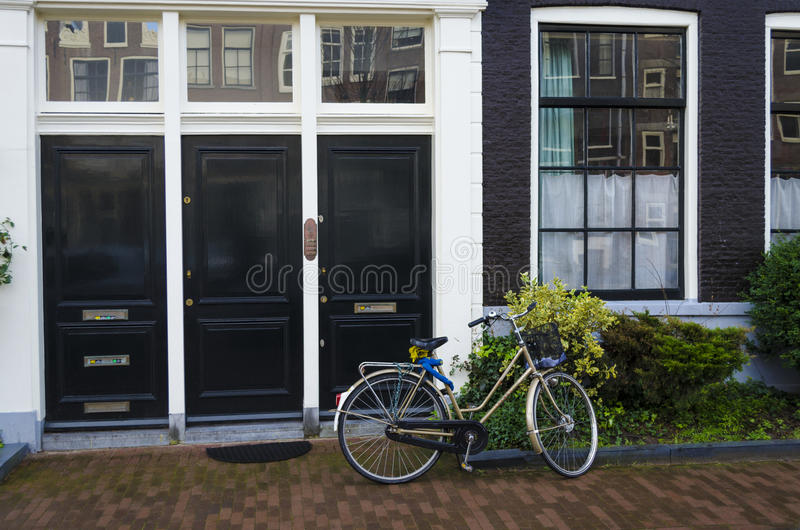 Dutch street scene royalty free stock images