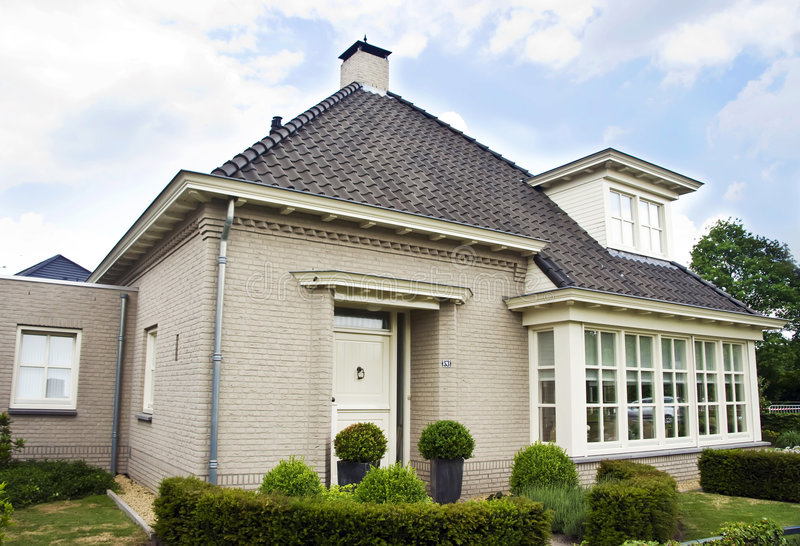 Download Dutch suburban house stock image. Image of quaint, outdoor - 5264929