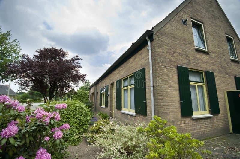 Dutch Suburban House Royalty Free Stock Photos
