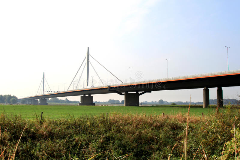 Download Dutch Suspension Bridge Over The Waal River Stock Photo - Image: 11171346
