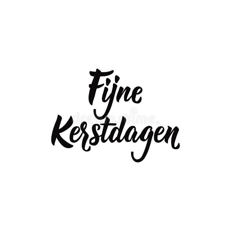 Dutch text: Merry Christmas. Lettering. Banner. calligraphy vector illustration. Kerst vector illustration