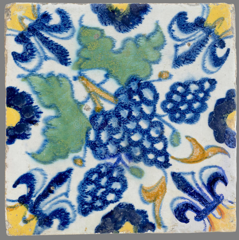 Dutch tile from the 16th to the 18th century stock image