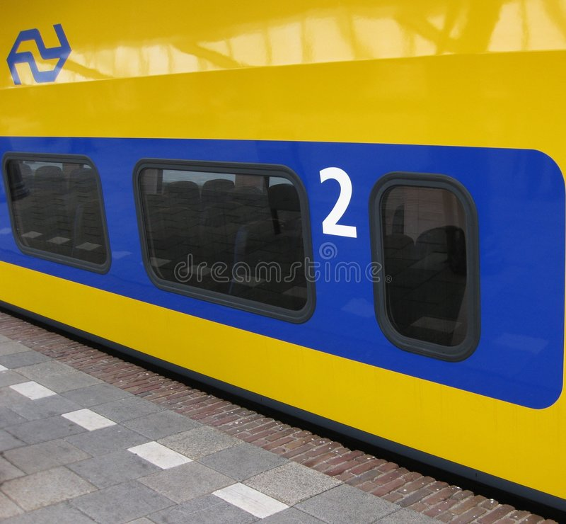 Dutch Train stock image