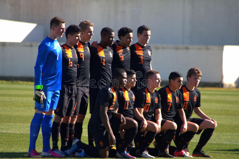The Dutch U17 national team royalty free stock images