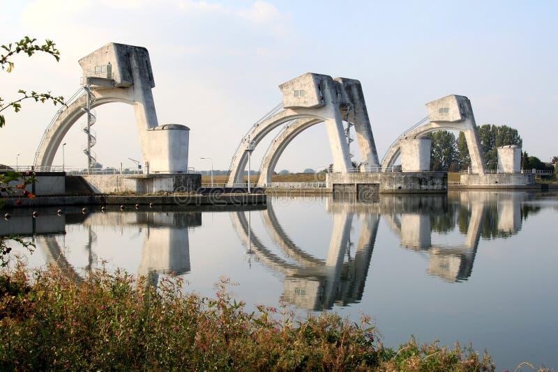 Download Dutch Visor Type Gates In The Rhine Near Amerongen Stock Photo - Image: 11165196