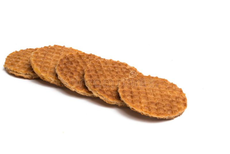 Dutch waffles isolated royalty free stock photos