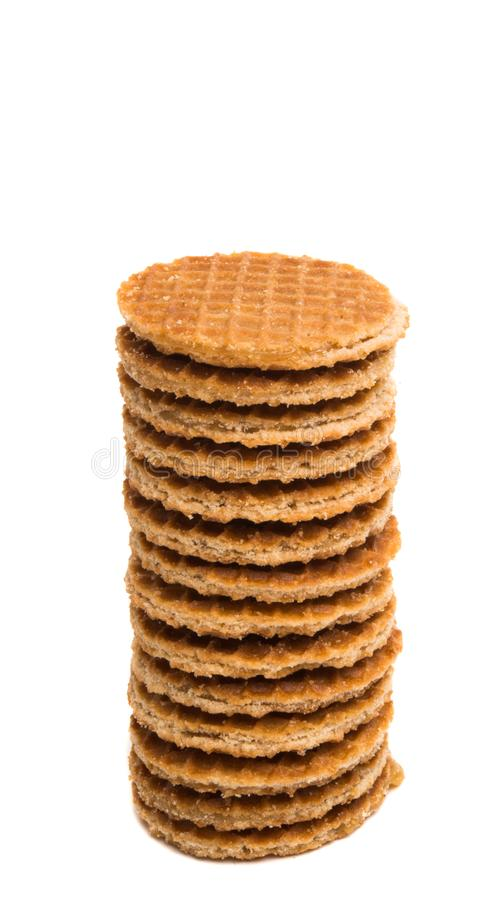 Dutch waffles isolated royalty free stock images