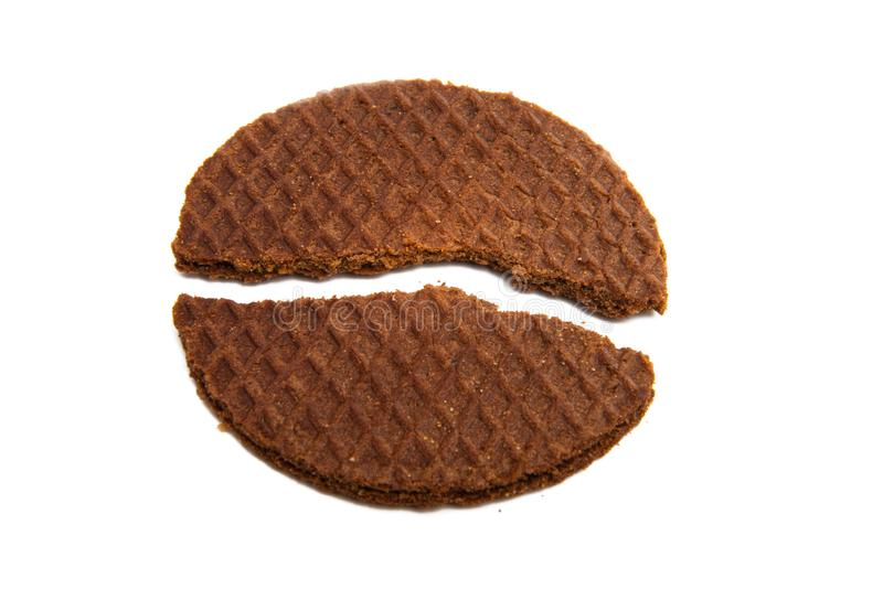 Briquette dutch waffles royalty free stock image