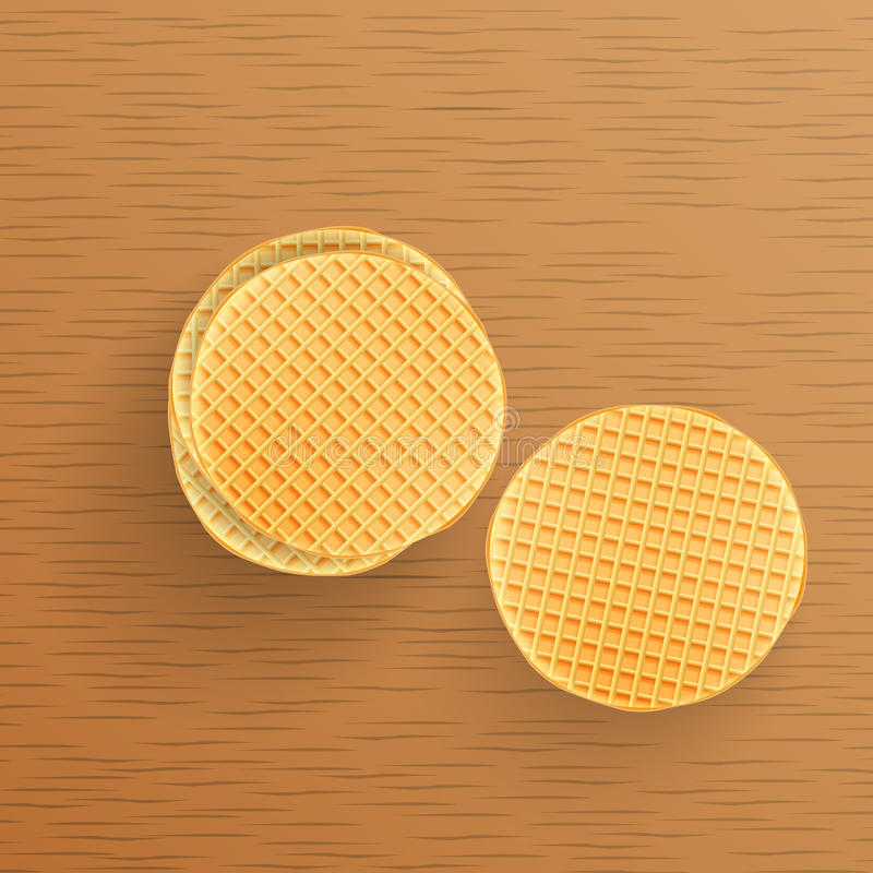 Dutch waffles on the table. stock photo