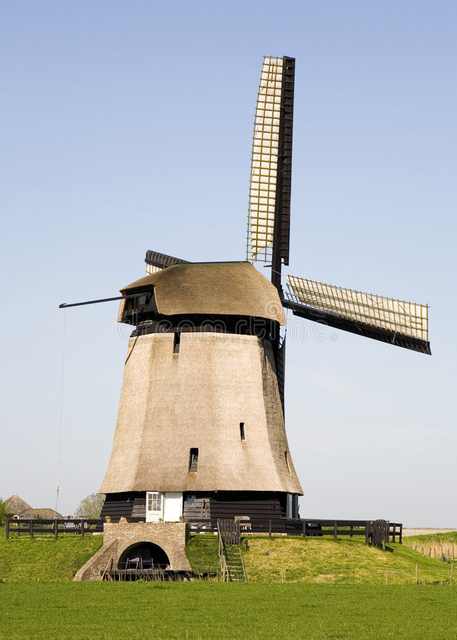 Dutch windmill 18 stock images