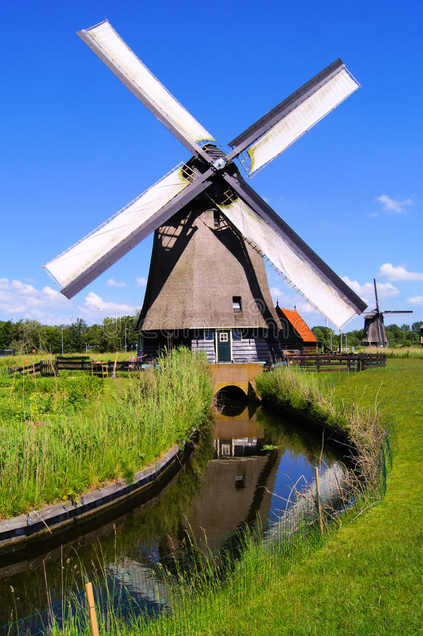 Download Dutch windmill stock photo. Image of nature, european - 25563970
