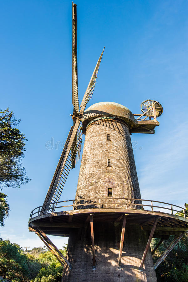 Dutch windmill - Golden Gate Park, San Francisco royalty free stock photo