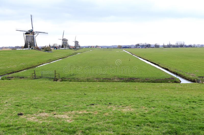 Dutch windmill, Leidschendam near Den Haag royalty free stock image