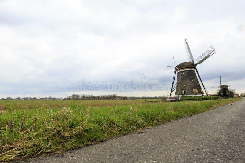 Dutch windmill, Leidschendam near Den Haag stock photography