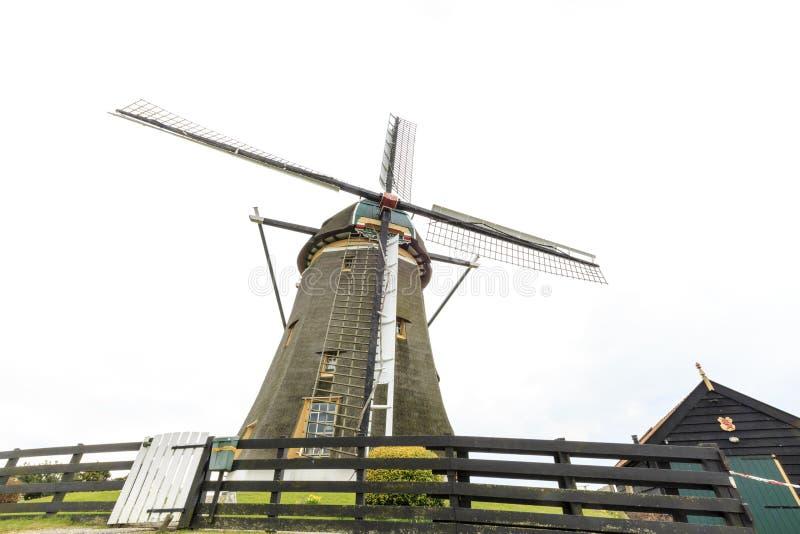 Dutch windmill, Leidschendam near Den Haag royalty free stock images