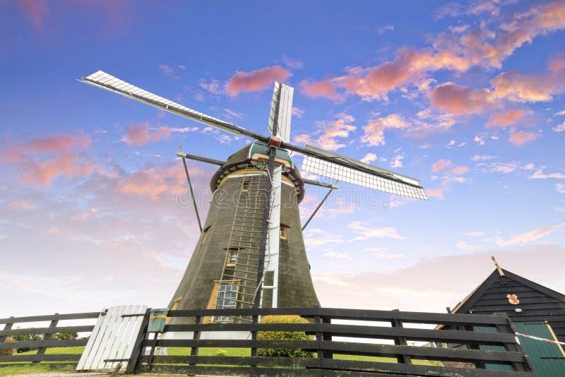 Dutch windmill, Leidschendam near Den Haag stock images