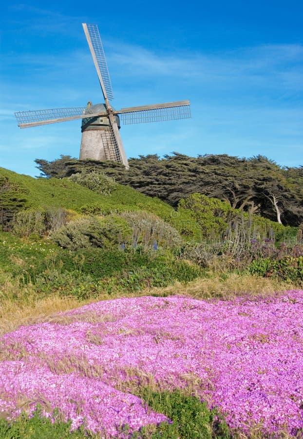 Dutch windmill (San Francisco) stock images