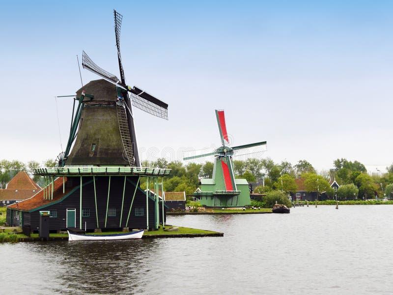 Dutch Windmills Royalty Free Stock Photography