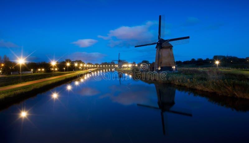 Dutch Windmills, Alkmaar stock image