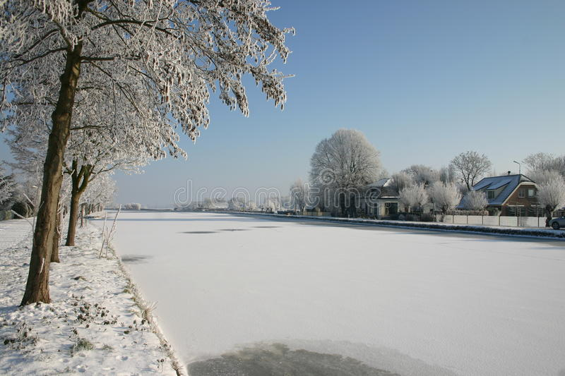 Download Dutch winter 2012 stock photo. Image of snow, 2012, canal - 24073110