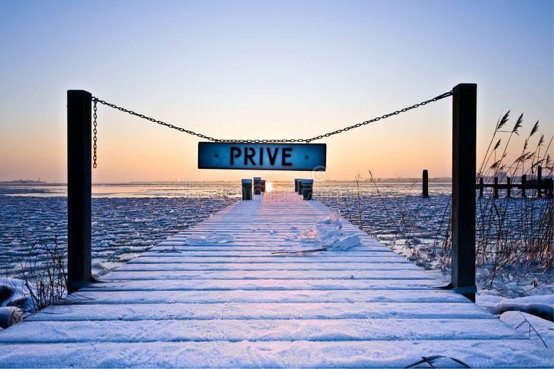 Dutch winter landscape royalty free stock photos