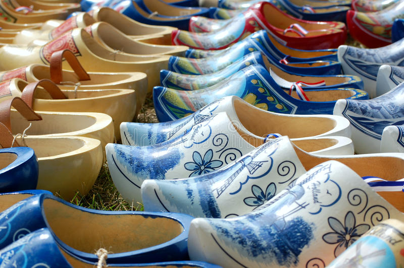 Dutch wooden clogs royalty free stock photography