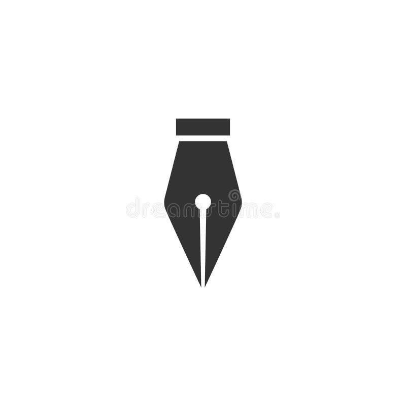 Dutki pióra czerni silhoette wektorowa prosta ikona ilustracja wektor