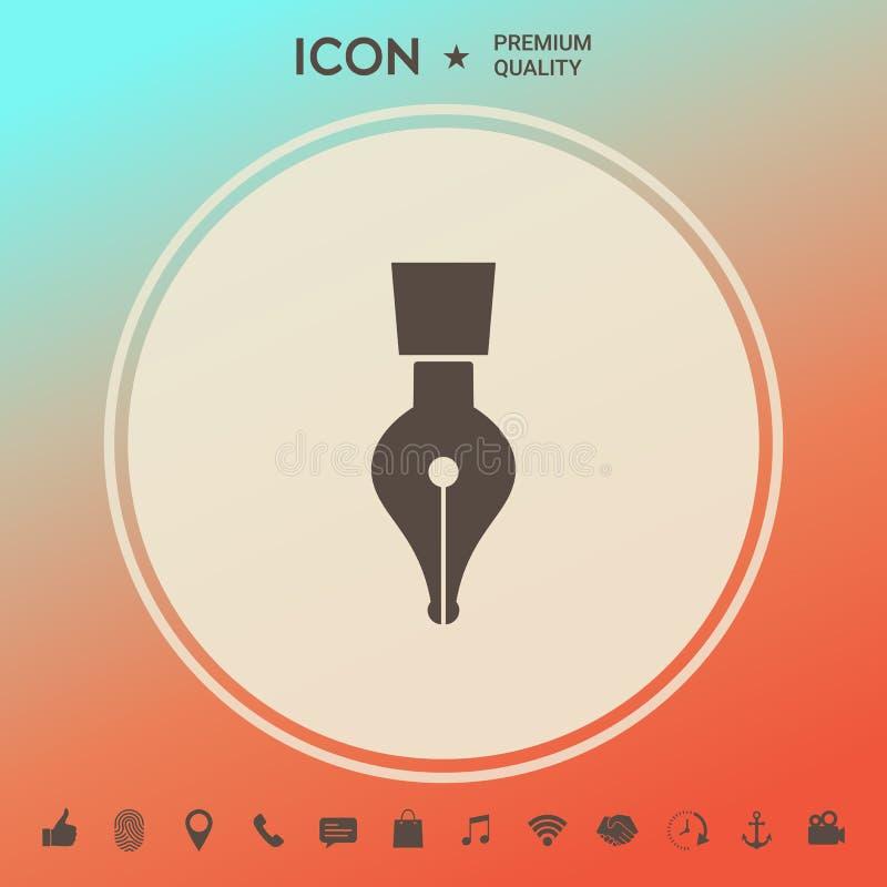 Dutki pióra ikona royalty ilustracja