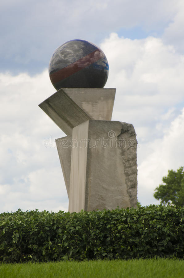 Dutton Brookfield Memorial. This abstract sculpture serves as a memorial to Dutton Brookfield, a civic, business and political leader in Kansas City who was the stock images