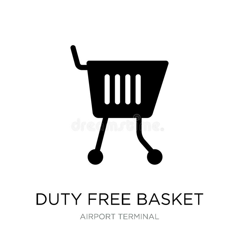duty free basket icon in trendy design style. duty free basket icon isolated on white background. duty free basket vector icon vector illustration