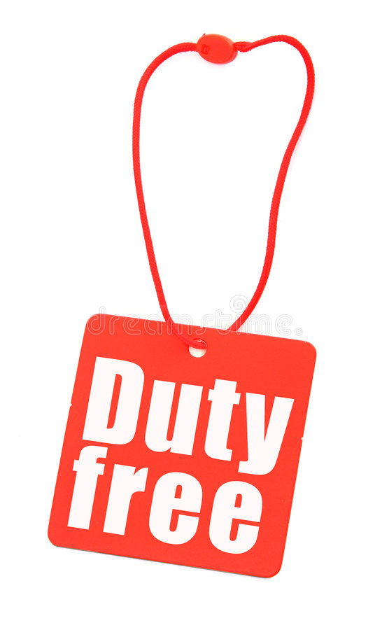 Download Duty free tag on white stock photo. Image of close, reduction - 6077256