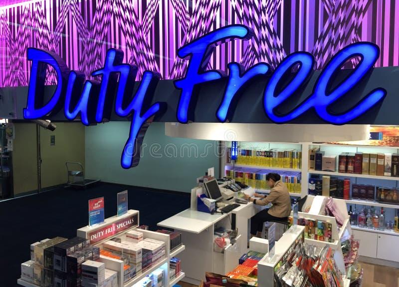 Dutyfreeshop in Don Mueang-Flughafen, Bangkok stockfoto