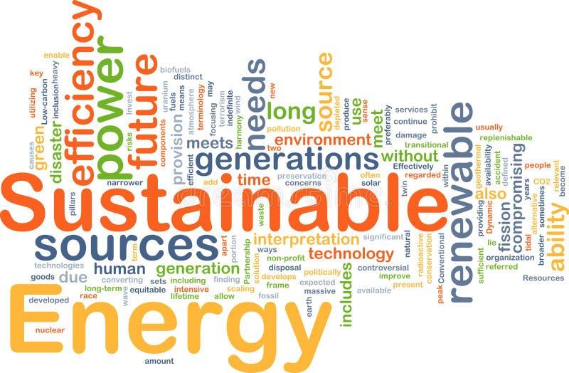Duurzaam energieconcept als achtergrond royalty-vrije illustratie
